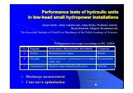 Performance tests of hydraulic units in low-head small hydropower ...