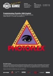 Produktekatalog Photoflex 2008 (English) - Dedotec Schweiz
