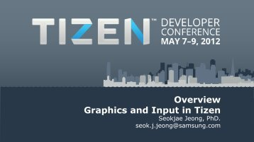 Overview of Graphics and Input in Tizen