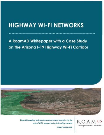 Arizona Highway Wi-Fi Corridor