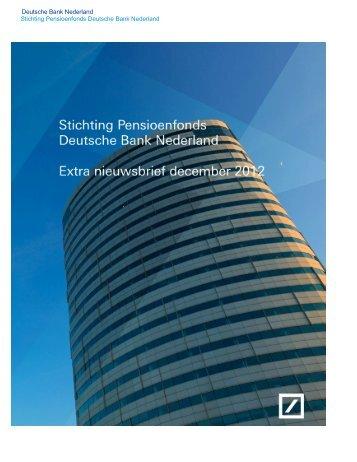 Extra Nieuwsbrief december 2012 - Deutsche Bank