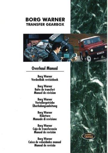 Borg Warner 44-62 Transfer Box Overhaul Manual - Mechanical Parts