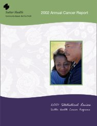 2002 Annual Cancer Report - Sutter Health