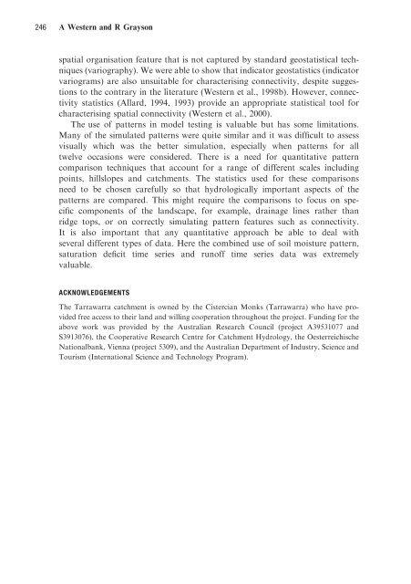 Soil Moisture and Runoff Processes at Tarrawarra