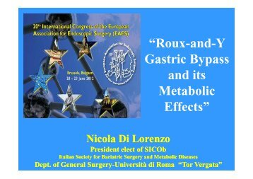 """Roux-and-Y Gastric Bypass and its Metabolic Effects"" - Cattedra ..."