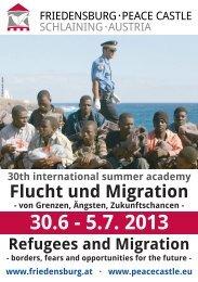 Programme - Friedensburg Schlaining   Peace Castle Austria