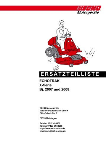 X-Serie ab Bj. 2007 - Gartentechnik-Bremen
