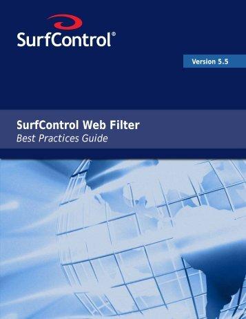 Web Filter Best Practices Guide v5.5 - Websense Knowledge Bases