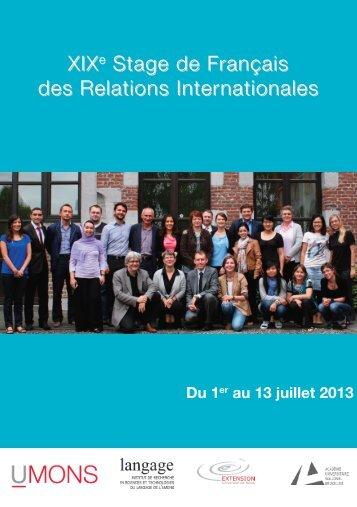 Dépliant - Université de Mons