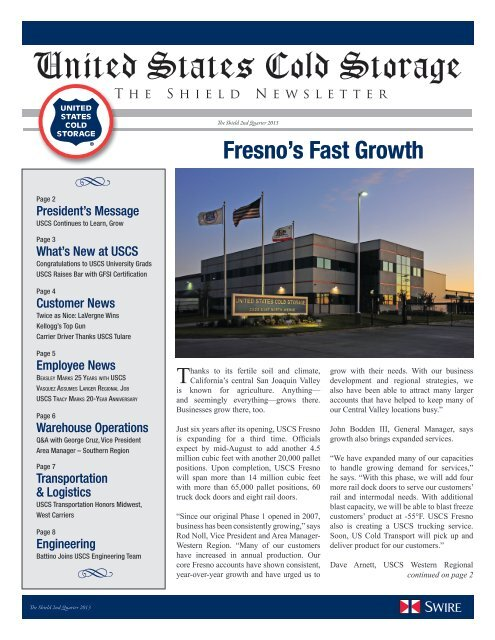 USCS Continues to Learn, Grow - United States Cold Storage