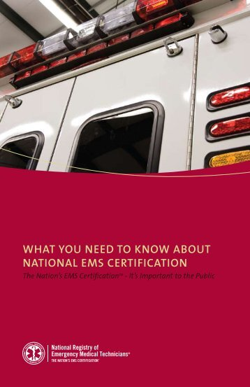 what you need to know about national ems certification