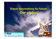 Diesel Locomotives for Future - Our Vision - UIC