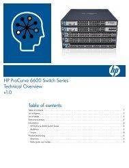 HP ProCurve Switch 2900 Series - Moonblink