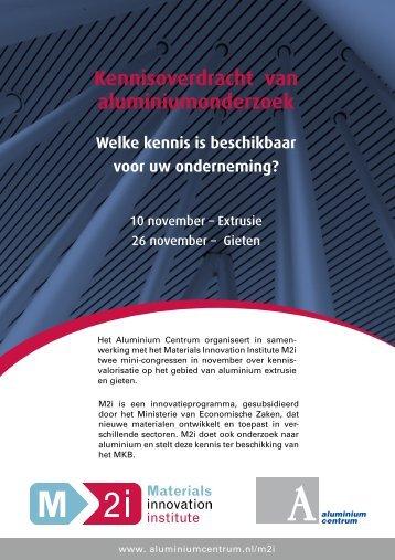 Kennisoverdracht van aluminiumonderzoek - Het Aluminium Centrum