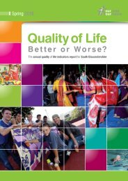 South Gloucestershire Quality Of Life Report 2010