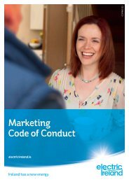 The Marketing Code of Conduct (PDF) - Electric Ireland