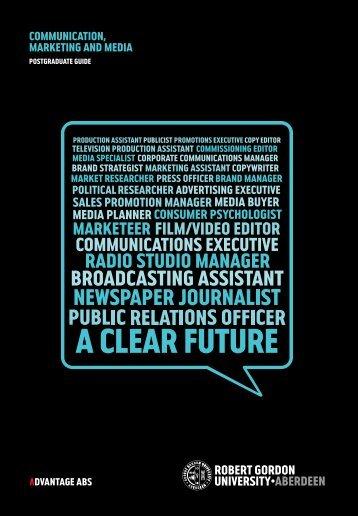 COMMUNICATION, MARKETING AND MEDIA