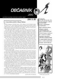 občasník 2/2011 - Janáčkova akademie múzických umění v Brně