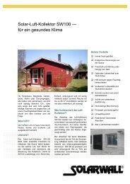 Solar-Luft-Kollektor SW100 — für ein gesundes Klima - Solarwall