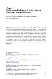Performance Evaluation of Social Network Using ... - Ajith Abraham