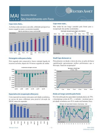 Newsletter - Seu Investimento em Foco - Western Asset