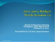 2011-2012 Budget Work Session 2 - the Parsippany-Troy Hills ...