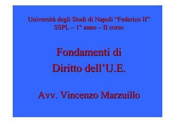 Fondamenti di Diritto dell'U.E. - Domanda - Università degli Studi di ...