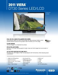 2011 Viera® DT30 Series LED/LCD - Panasonic