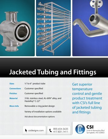 Jacketed Tube & Fittings