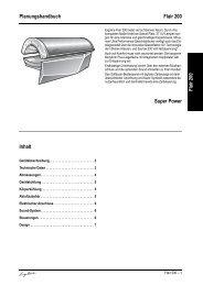 Planungshandbuch Flair 200 Flair 200 Super Power Inhalt