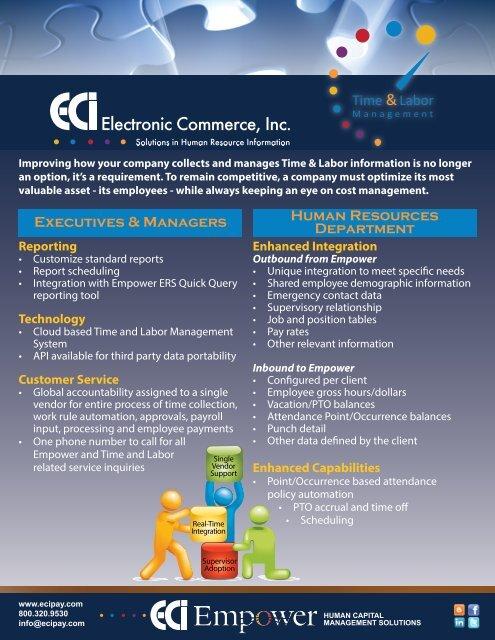 ECI Time and Labor Management - CompareHRIS com