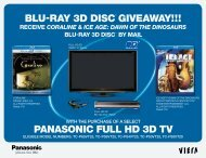 "PANASONIC FULL HD 3D TV BLU-RAY 3D DISCâ""¢ GIVEAWAY!!!"