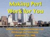 Pittsburgh Perl Workshop 2006