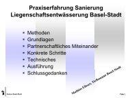 Praxiserfahrung bei der Zustandserfassung, Auswertung und ... - VSA