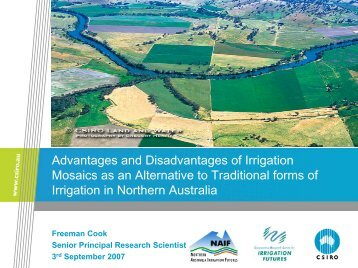 Advantages and Disadvantages of Irrigation ... - Riversymposium