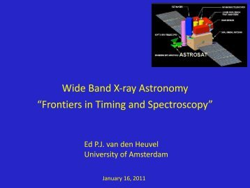 Wide Band X-ray Astronomy Conference Summary - iucaa