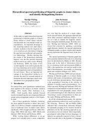 Hierarchical spectral partitioning of bipartite graphs to cluster ...