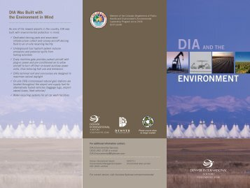 DIA and the Environment - DIA Business Center Home Page ...