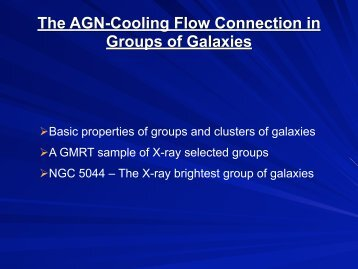 The AGN/Cooling flow connection in Groups of Galaxies - iucaa