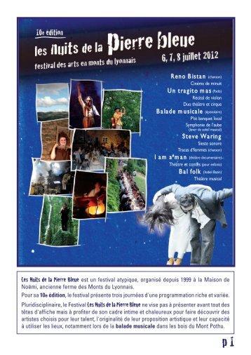 Nuits de la Pierre Bleue 2012.pdf - Collectif L'Organisation