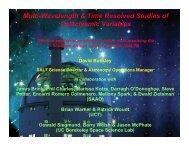 Multi-Wavelength & Time Resolved Studies of Cataclysmic ... - iucaa