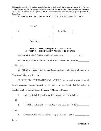 Form 34: Stipulation of Settlement and Order of Dismissal, Civil ...