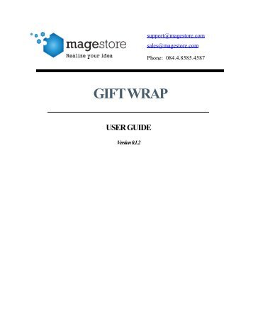 gift wrap user guide - Magento Extensions