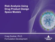 Risk Analysis Using Drug Product Design Space Models