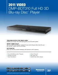 2011 VIDEO DMP-BDT310 Full HD 3D Blu-ray Disc ... - Panasonic