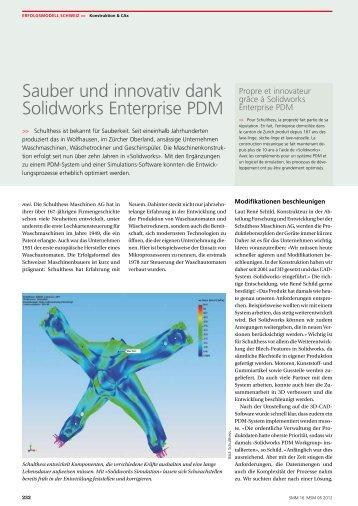 Sauber und innovativ dank Solidworks ... - Solid Solutions AG