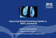 Improving Breast Screening Uptake in NHS Lanarkshire