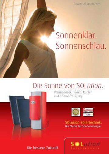 Sonnenklar. Sonnenschlau. - Solution Solartechnik GmbH