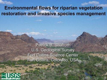 Environmental flows for riparian vegetation ... - Riversymposium