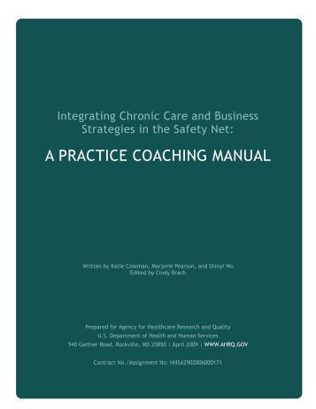 A Practice Coaching Manual - Improving Chronic Illness Care